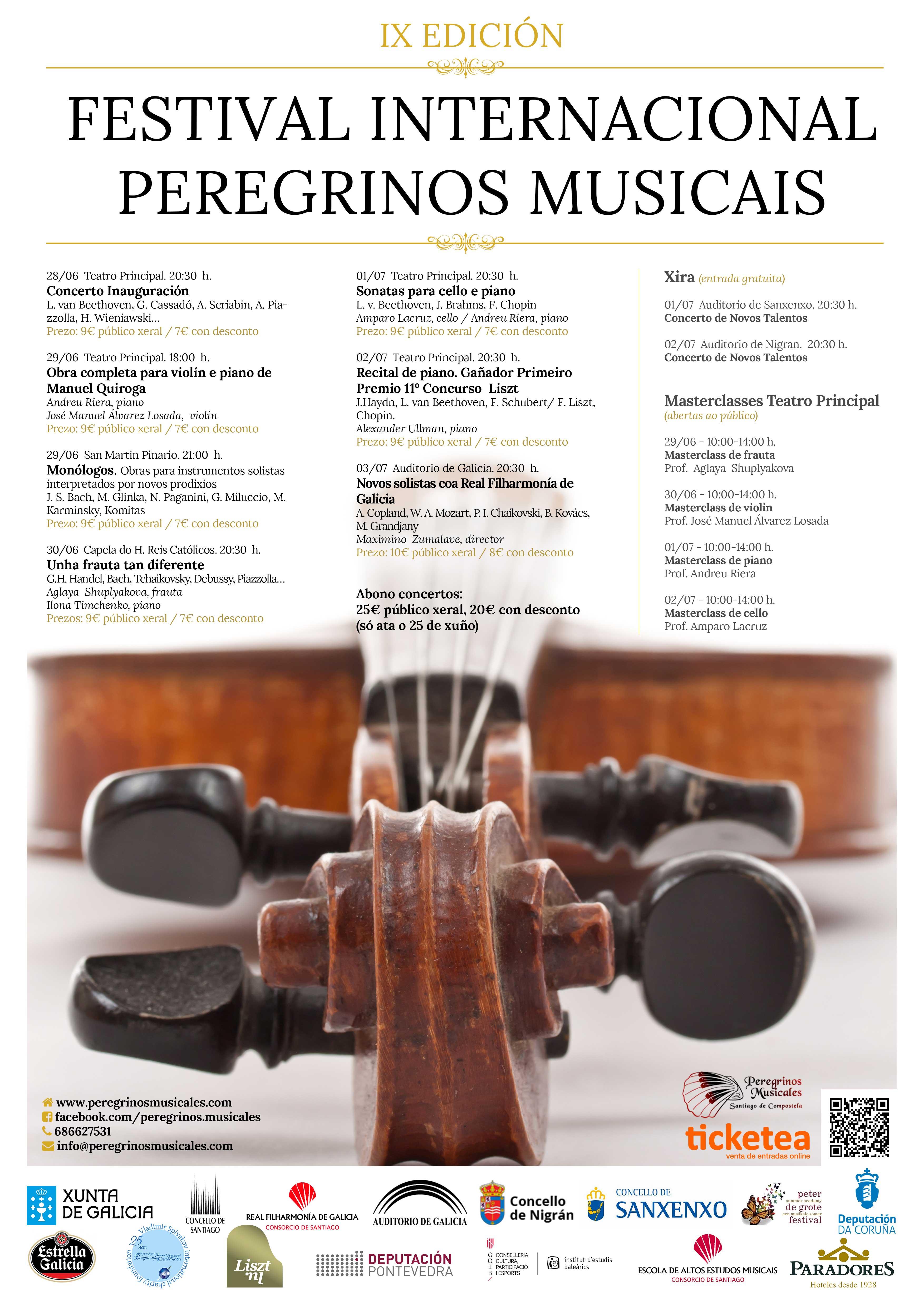 Concertos do IX Festival Peregrinos Musicais. Día 1