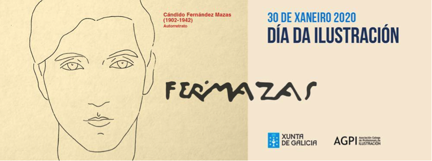 Imaxe do Día da Ilustración de 2020 dedicado a Cándido Fernández Mazas