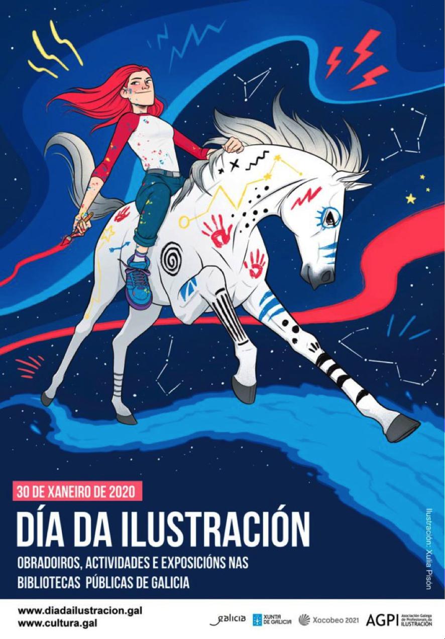 Cartel Día da Ilustración 2020