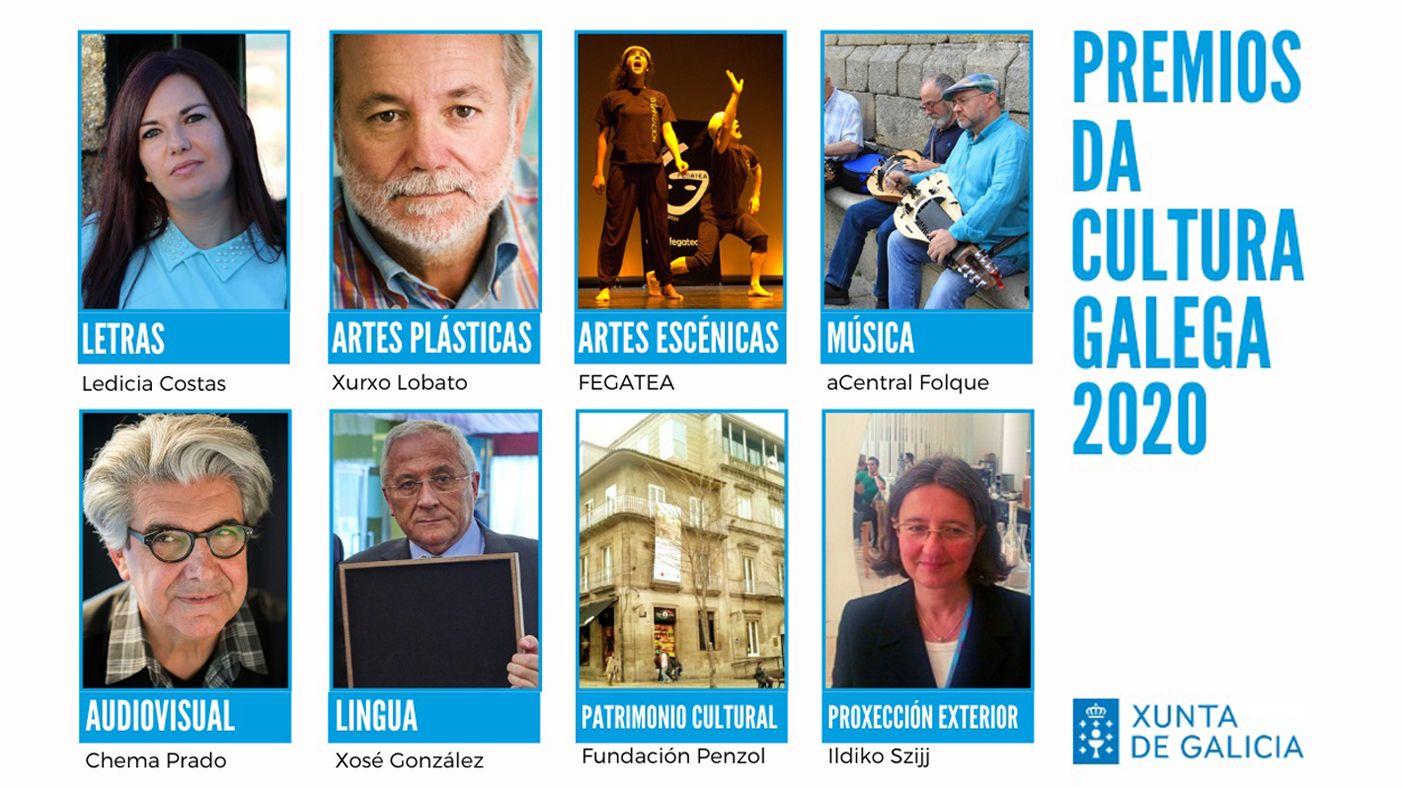 8 galardoados Premios da Cultura Galega 2020