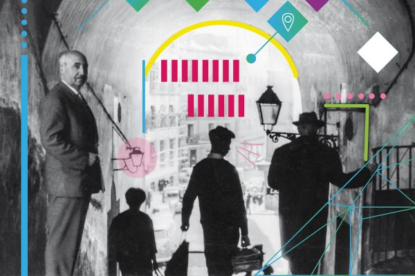 Detalle do primeiro panel da exposición Antonio Fraguas, memoria dun soño