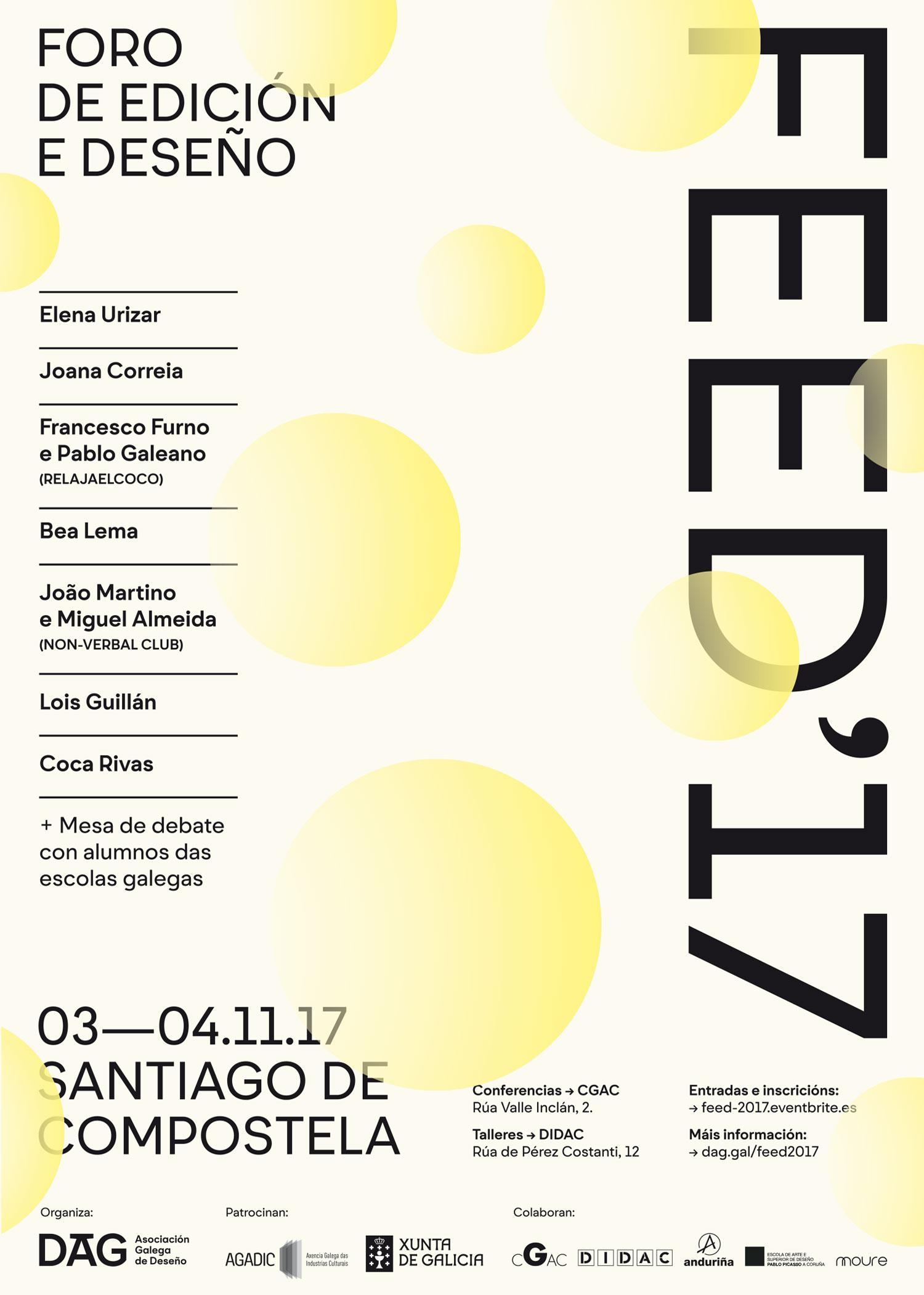 Cartel Foro de Edición y Diseño, FEED 2017