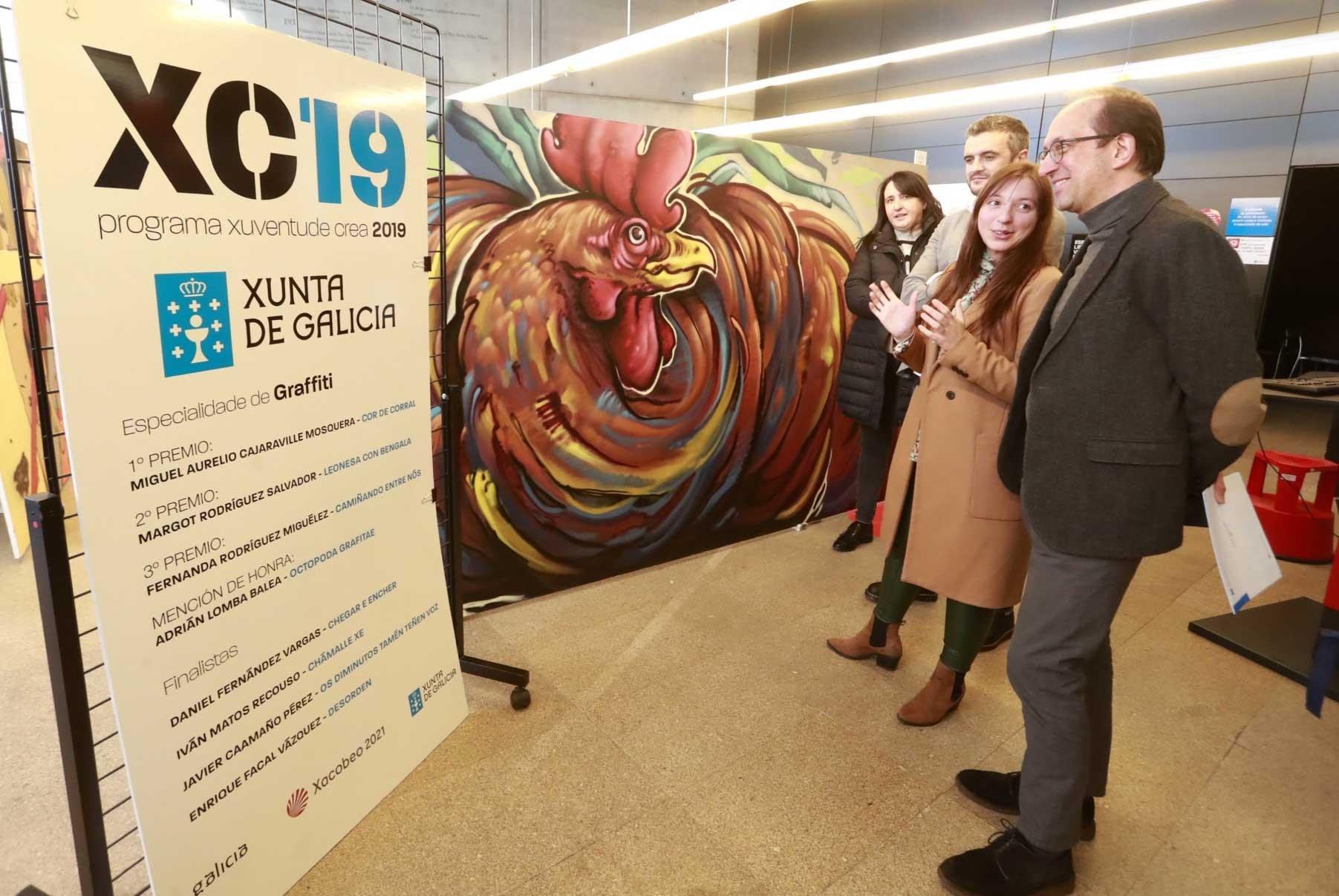 Exposición graffitis programa Xuventude Crea 2019
