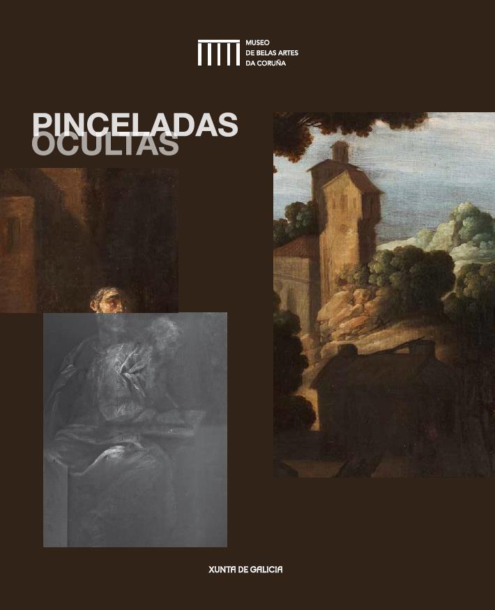 """Visitas guiadas á exposición Pinceladas Ocultas no Museo de Belas Artes da Coruña. Detalle do óleo """"Arrepentimiento de San Pedro"""" de Francisco Collantes."""