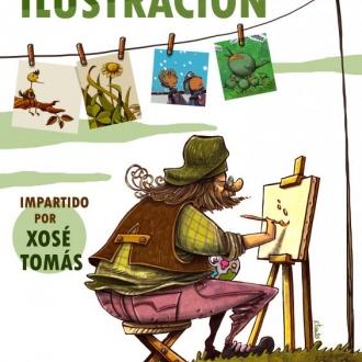 Obradoiro de ilustración, con Xosé Tomás