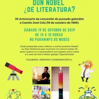 Cartel 30 aniversario nobel a Camilo José Cela