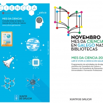 Cartel Novembro. Mes da Ciencia  nas Bibliotecas Públicas (2019)
