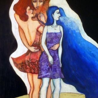 Manawee o la doble naturaleza femenina Ilustración para cuento de Clarissa Pinkola