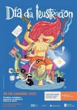 O ilustrador Manel Cráneo é o autor do cartel Di2021
