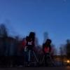 Telescopios apuntando ao ceo do Gaiás