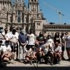 A COMISARIA DO XACOBEO 2021 RECIBE A JOSÉ MANUEL CALDERÓN NA ÚLTIMA ETAPA DE 'EL CAMINO ACABA EN OBRADOIRO'
