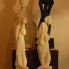 Figuras do escultor Alfonso Rivero de Aguilar