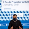 Román Rodríguez na presentación da convocatoria do Fondo de Proxectos Culturais Xacobeo 2021