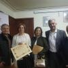 O secretario xeral de Política Lingüística, Valentín García, participou hoxe á tarde en Gres no acto de entrega do II Premio Xosé Neira Vilas de Novela Curta
