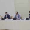 Anxo Lorenzo e Jacobo Sutil na sesión informativa sobre as axudas da Agadic
