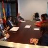 O conselleiro de Cultura, Educación e Ordenación Universitaria, Xesús Vázquez Abad, e varios cargos da Consellería, reuníronse hoxe coa Asociación Galega de Editores