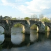 A ponte medieval de Pontevea | Imaxe Wikipedia