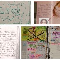 Recompilacion diarios adolescentes femininos para documental experimental