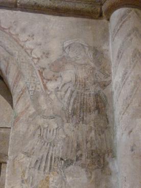 Pinturas murais da igrexa do mosteiro de San Xiao de Moraime