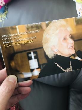 Luz Pozo Garza recibe o Premio Trasalba 2019
