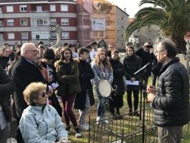 Anxo M. Lorenzo participa na ofrenda floral para conmemorar o 40 aniversario do falecemento de Eduardo Blanco Amor