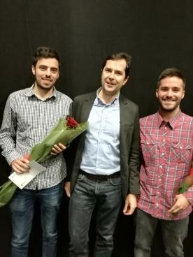 Jacobo Sutil fíxolle entrega hoxe deste galardón, que organiza a Escola Superior de Arte Dramática en colaboración coa Agadic