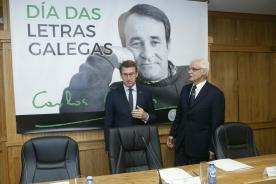 El titular de la Xunta preside en Xinzo de Limia la sesión plenaria de la RAG con motivo del Día das Letras Galegas