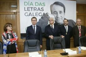 El titular de la Xunta preside en Xinzo de Limia la sesión plenaria de la RAG con motivo del Día de las Letras Gallegas