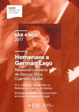 Cartel Homenaxe Germán Lago