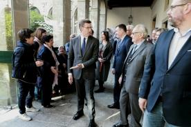 """Feijóo subliñou que dos símbolos de onte e de hoxe que alberga o Museo do Pobo Galego """"brota unha cultura para o entendemento"""""""