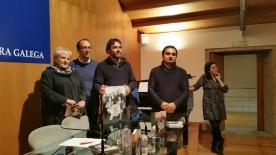 Anxo Lorenzo, en el acto de presentación del libro-CD Maruxa Boga. Recordando a Galicia