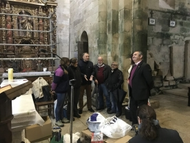 El delegado territorial de la Xunta en Lugo, José Manuel Balseiro, visitó esta mañana a iglesia monacal de San Salvador de Vilar de Doñas, en Palas de Rei