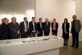 El conselleiro de Cultura en la inauguración de la exposición