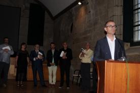 O conselleiro de Cultura, Educación e Ordenación Universitaria, Xesús Vázquez Abad, na entrega de premios