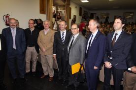 O conselleiro de Cultura e Educación na entrega do Premio Trasalba