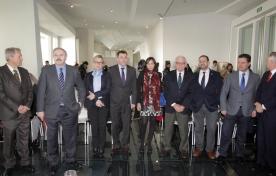 El conselleiro de Cultura, Educación e Ordenación Universitaria, Román Rodríguez, presentó hoy en la sala Eisenman del Gaiás la programación promovida por la Xunta de Galicia para conmemorar las Letras Galegas 2015