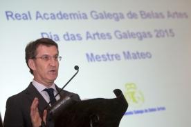 O titular da Xunta presidiu esta tarde a presentación do Día das Artes Galegas 2015, dedicado ao Mestre Mateo