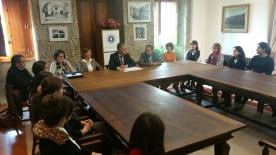 Valentín García deulle hoxe a benvida ao novo persoal que desenvolverá o seu labor no centro dependente da Secretaría Xeral de Política Lingüística por un período de dous anos