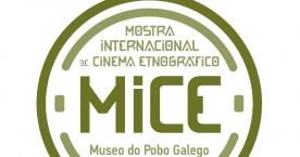 Logo Mostra Internacional de Cinema Etnográfico (MICE) do Museo do Pobo Galego