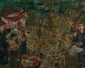 Vigo traballa, obra de Manuel Moldes de la colección Abanca