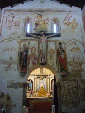 San Antoniño de Toques, pintura mural restaurada