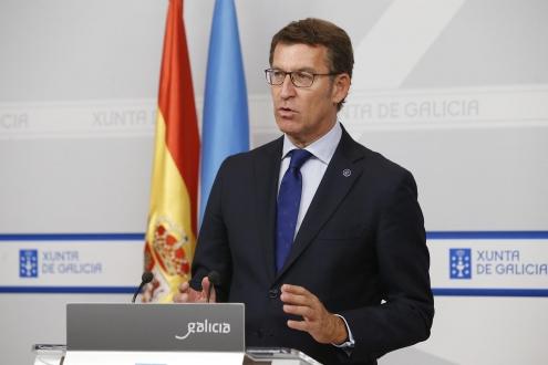 O presidente da Xunta na rolda de prensa do Consello