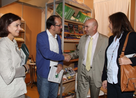 O secretario xeral de Cultura da Consellería de Cultura e Educación, Anxo Lorenzo, apoiou a participación do libro galego neste evento internacional