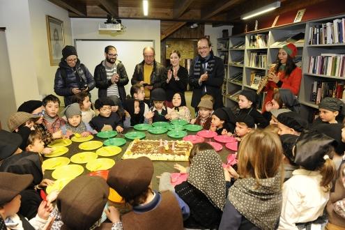 Anxo Lorenzo participou hoxe nos actos programados pola Fundación Eduardo Pondal