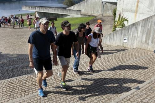 O secretario xeral de Cultura, Anxo Lorenzo, participou na andaina do ciclo 'Monumenta, andar con arte' titulada 'O Miño: A raia da amizade'